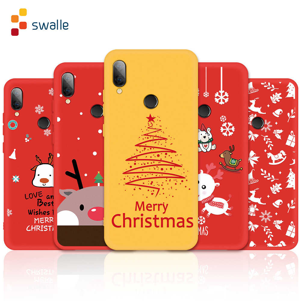 Swalle cartoon schutz shell für xiaomi 8 9 SE telefon zurück Abdeckung Weihnachten handy Fall für Redmi hinweis 6 7 8 pro