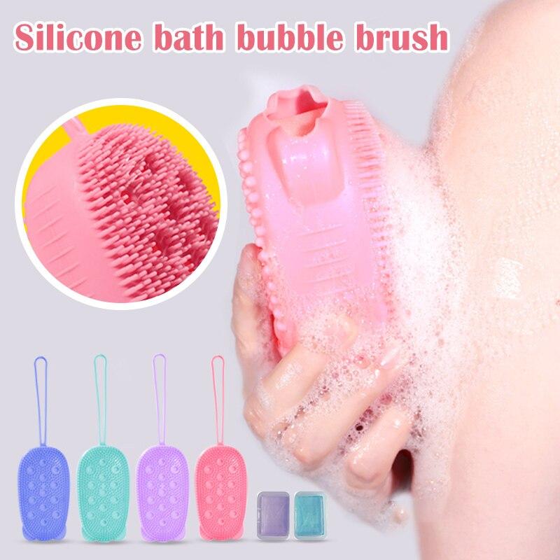 Силикон отшелушивающий мягкий кисть быстрое пенообразование растирание массаж пузырь ванна кисть SSwell