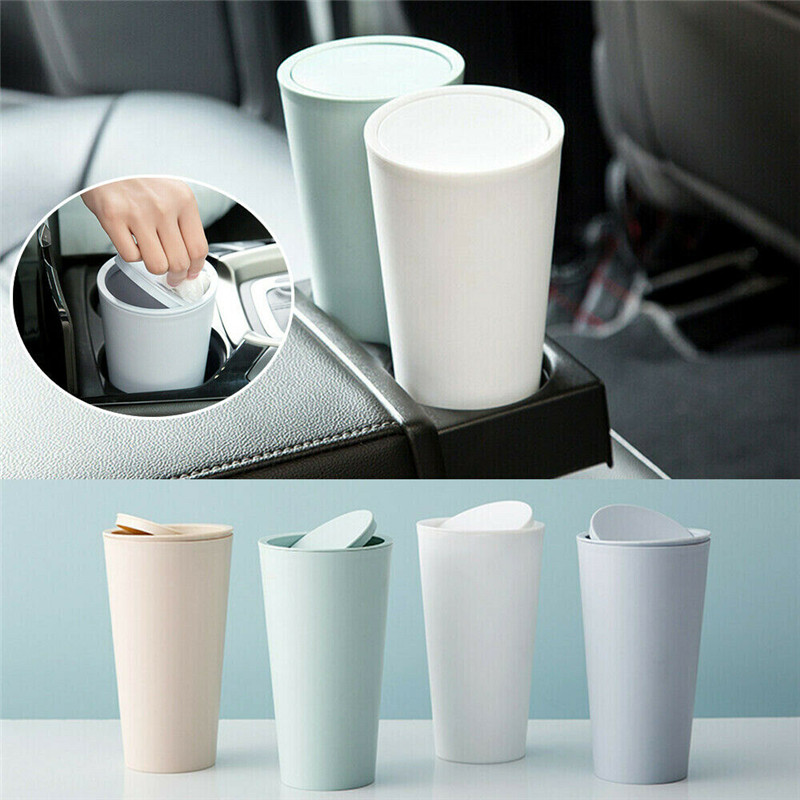 Car Trash Bin Basket Home Room Garbage Dust Case Holder Bin Office Table Waste Bins Car Garbage Cleaning Tools Auto Accessories