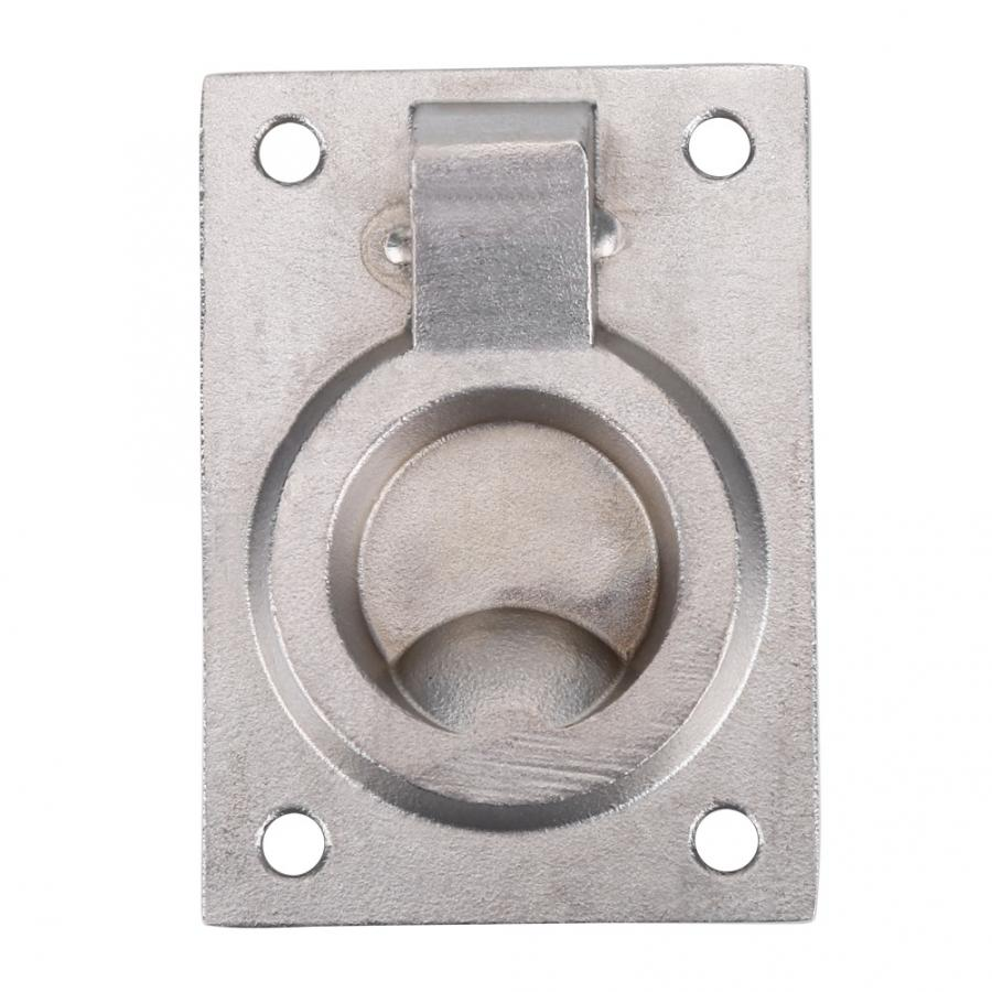 HGY Stainless Steel Ring Handle Flush Hatch Locker Cabinet Pull Lift Boat Marine Yacht Hardware