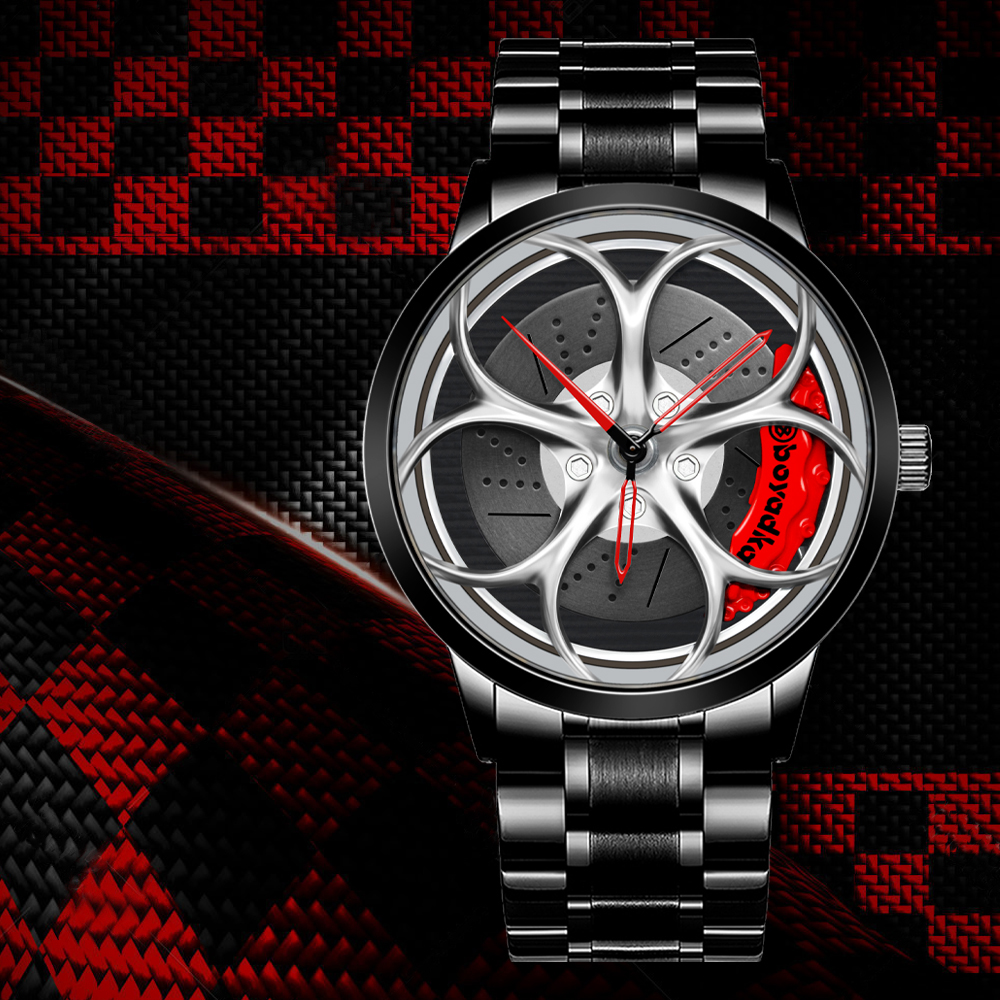 BOYADKA Rim Hub Men Sport Watch Car Wheel  Men s Watches Waterproof Wrist Creative Custom Design Quartz Watch Relogio Masculino