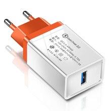 Quick Charge 3.0 2.0 EU/US Plug USB ładowarka podróżna kabel do szybkiego ładowania ściennego do tabletów Samsung S9 Xiaomi ładowarka do telefonu komórkowego