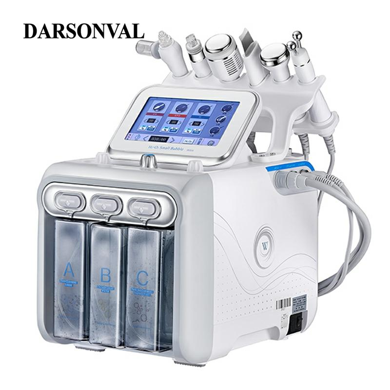 DARSONVAL Hydra Facial Galvanic Spa 6 In 1 Microdermal Small Bubbles Skin Care Device Oxygen Meter Ultrasonic Aesthetic Machine