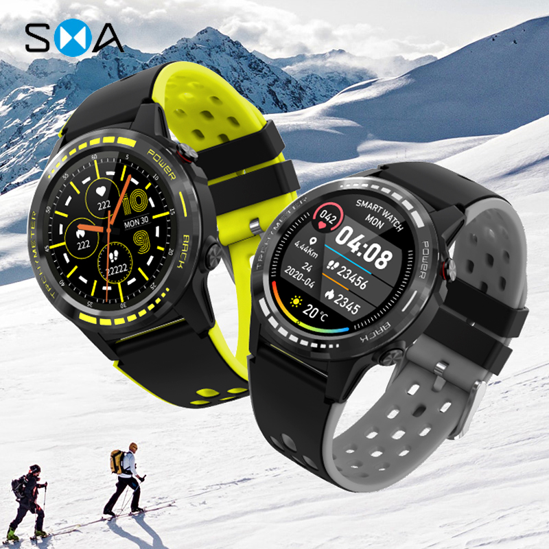 SMAWATCH M7C Smart Watch Smartwatch GPS Men Women 2020 Compass Barometer Altitude Full Touch Fitness Outdoor Watch Smart Watches