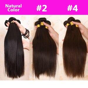 Image 5 - Ali Coco brésilien cheveux raides armure paquets Orange gingembre 100% cheveux humains paquets 1/3 pièces 8 30 pouces Non Remy Extensions de cheveux