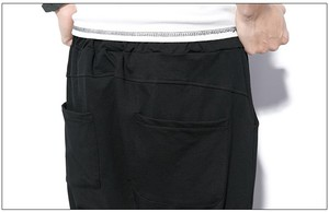 Image 5 - ผู้ชายกางเกง Hip Hop Streetwear ลำลอง Harem กางเกงผู้ชายสีดำสีเทาผ้าฝ้าย Sweatpants Solid Techwear Baggy กางเกงชาย