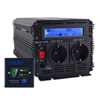 EDECOA UPS charger power inverter 1500W 3000W pure sine wave DC 12V AC 220V 230V 240V with remote control and LCD display