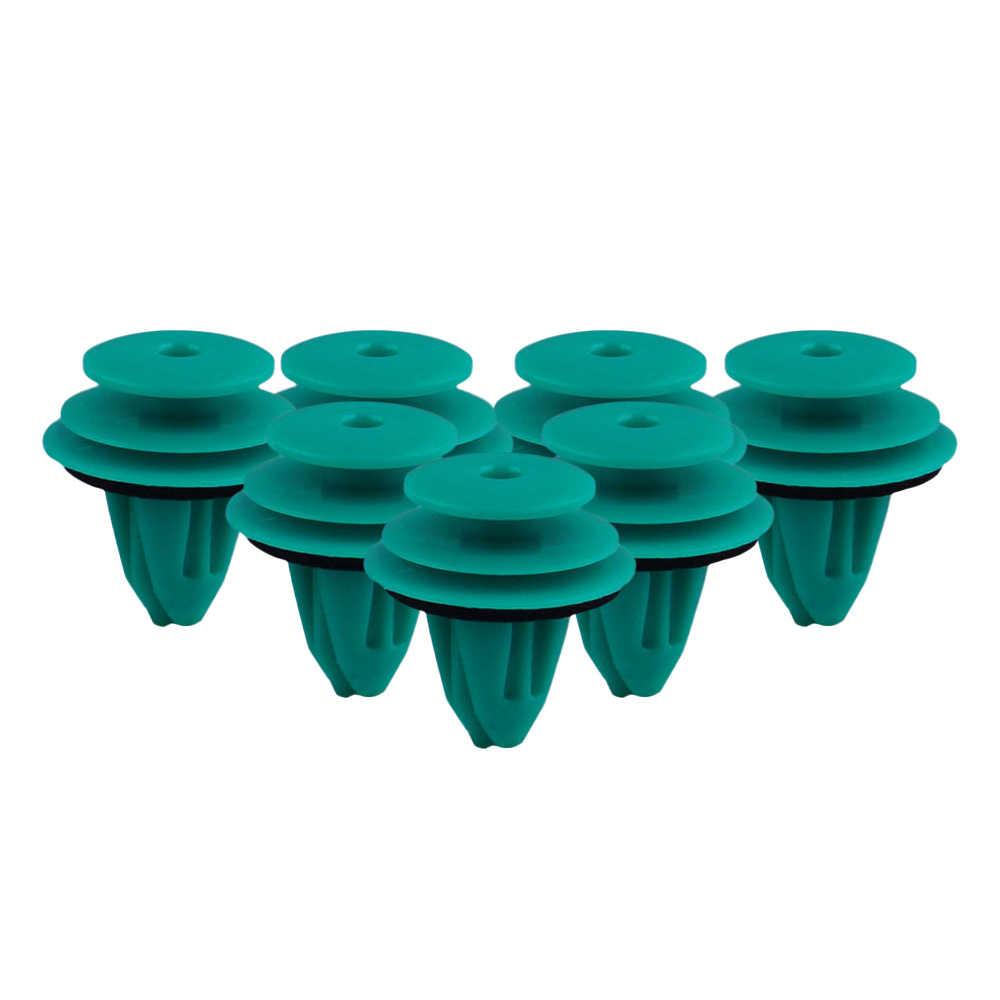 25個ハイトqulity緑プラークナイロン保持クリップのトヨタ90467-10188バンパードアバックル車のインテリアアクセサリー