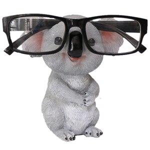 Koala estatuetas estátuas animais resina óculos de sol titular titular recipiente de desktop presente decoração para casa um