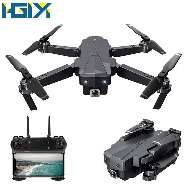 HGIYI SG107 Mini RC Drone With 1080P 4K Camera 2.4Ghz WIFI FPV Foldable Quadcopter Optical Flow RC Drones Helicopter Toys VS E58(China)