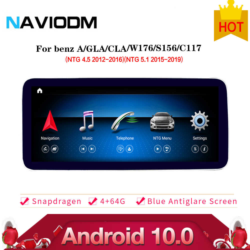 Android 10.0 4 + 64G Auto Multimedia Systeem Auto Dvd Speler Stereo Voor Mercedes Benz A-klasse Gla Cla w176 X156 C117 2013-2018 Gps
