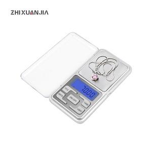 Image 1 - LED Digital Pocket Waagen 100g 200g 500g 0,01/0,1g küche Skala Precision Gramm Gewicht Elektronische balance Labor Skala