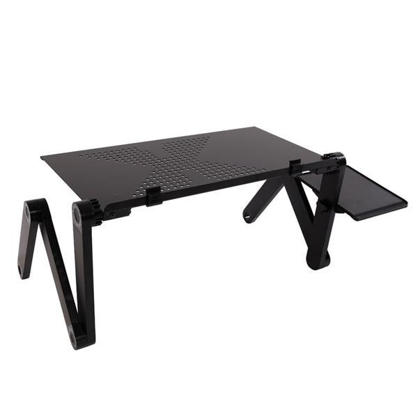 Portable Folding Computer Desk 48 X 26cm Portable Bed Table Laptop Bed Office Desk Home Use Assembled Folding Table Black