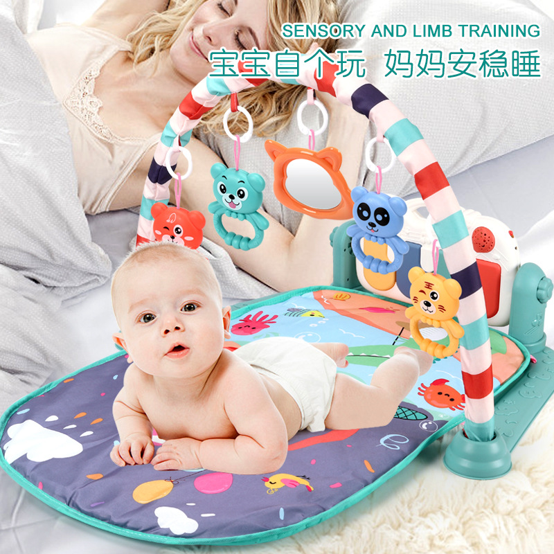 Music Blanket Baby Newborn Steps On Piano Gym 0- 18 Months 30 Lism Plastic Cement