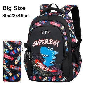2020 New Children School Bags for Teenagers Boys Girls Big Capacity School Backpack Waterproof Kids Book Bag Travel Backpacks - Color K