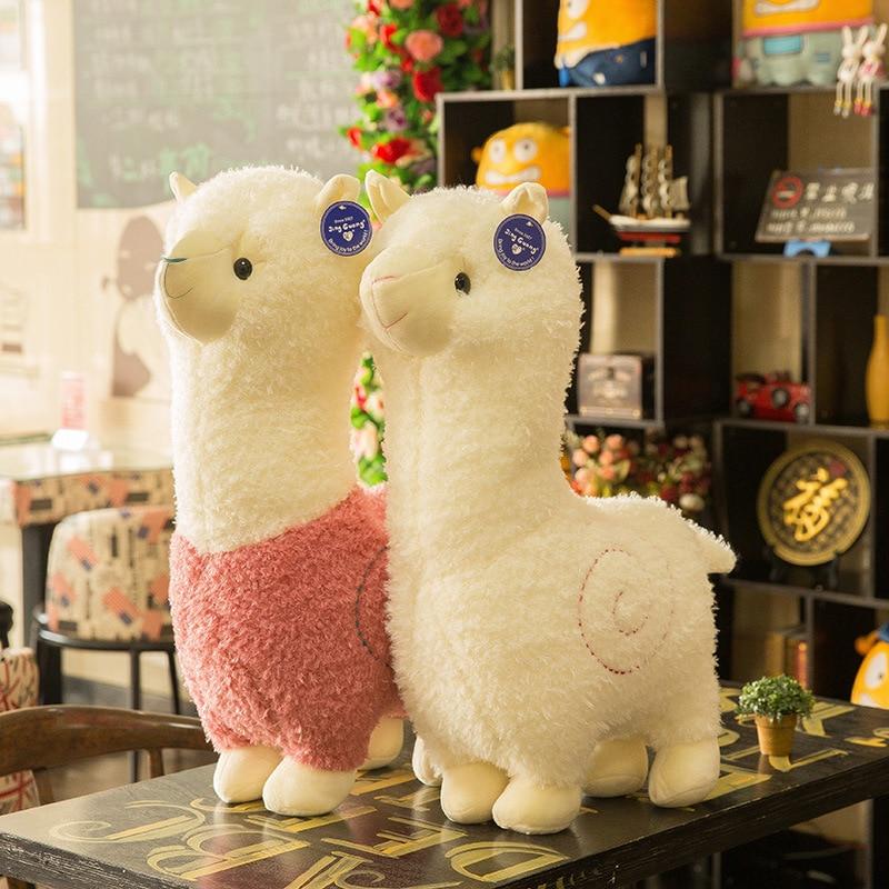 25 см Прекрасный Альпака чучело игрушки и плюшевые игрушки 6 Цвета милая плюшевая кукла животного мягкий хлопок плюшевые игрушки для детей с...