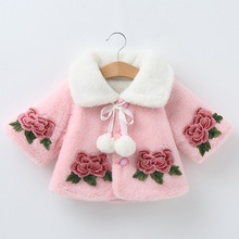 Cute Winter Clothes Newborn Kids Baby Girl Fur Coat Cloak Jacket Snowsuit Outerwear Infant Warm Cape D20