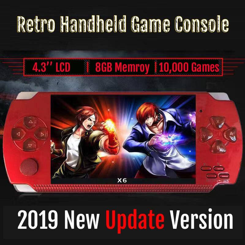 New Retro Game Console 4.3 inch In-Built 8GB For PSP/MP4 Video/MP5/Camera/E-book Portable Retro Game Player