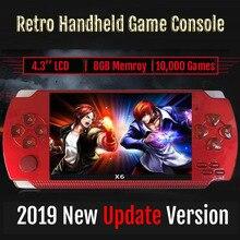 Novo console de vídeo game de 4.3 polegadas, 8gb embutido para vídeo em mp4/mp5/câmera/livro digital jogo retrô portátil