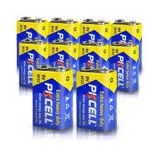 Pkcell 10 шт 9v 6f22 Батарея сверхповышенной мощности батареи
