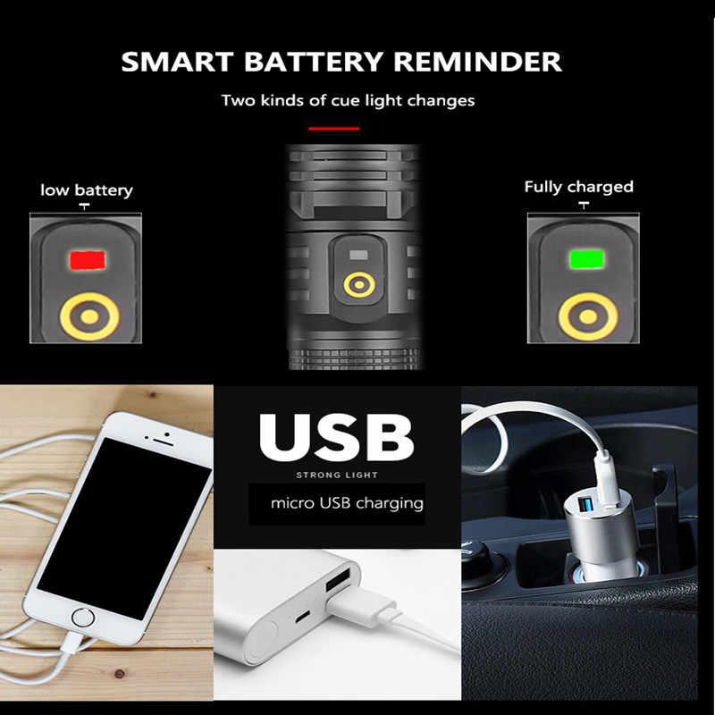 2020 90000LM XHP90.2 LED Đèn Pin Đèn Pin Mạnh Mẽ Nhất Zoom Đèn Pin 26650 USB Đèn Pin Đèn Lồng 18650 Săn Bắn Đèn Cầm Tay Ánh