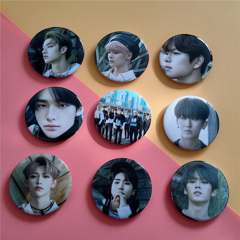 Kpop Stray Kids Badge New Album CLE LEVANTER Badge HD Photo Bang Chan Brooch Felix Jisung Minho Kpop Stray Kids Badge