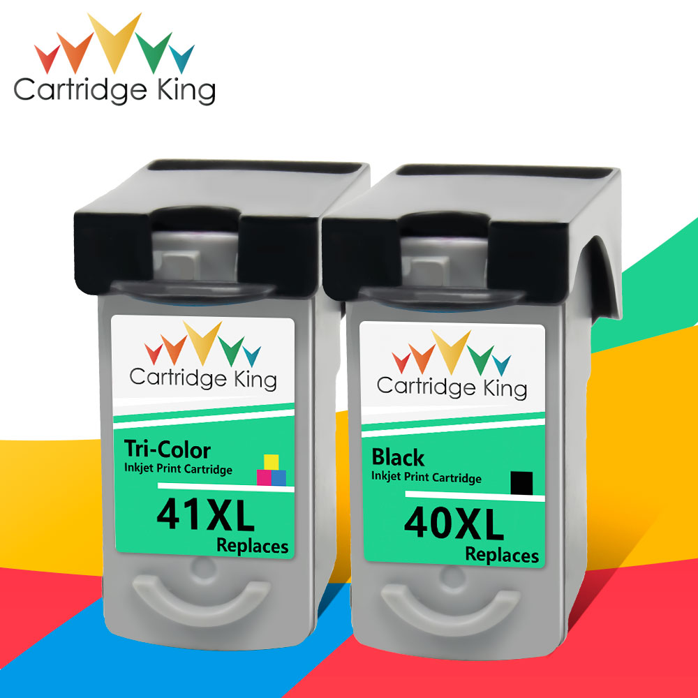 Cartridge King PG-40 CL-41 PG40 CL41 Ink Cartridge For Canon Pixma MP140 MP150 MP160 MP180 MP190 MP210 MP220 MP450 MP470 Printer