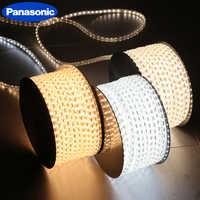 Водонепроницаемый светодиодный светильник Panasonic 220 В с вилкой европейского стандарта, гибкий веревочный светильник, 36 светодиодов/м, высока...