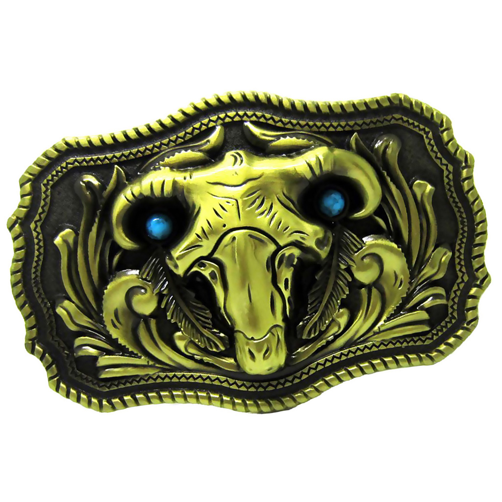 пряжка для ремня Rodeo Bull Skull Steer Head Western Cowboy Zinc Alloy Men Belt Buckle Bronze Gold Color
