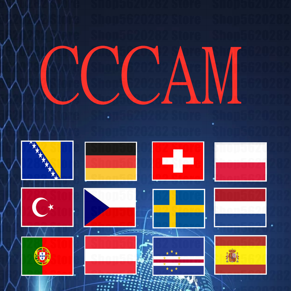 7-line CCCAM For One Year For Germany, Spain, Poland, Cape Verde, Czech Republic, Austria, Switzerland, Netherlands, Turkey