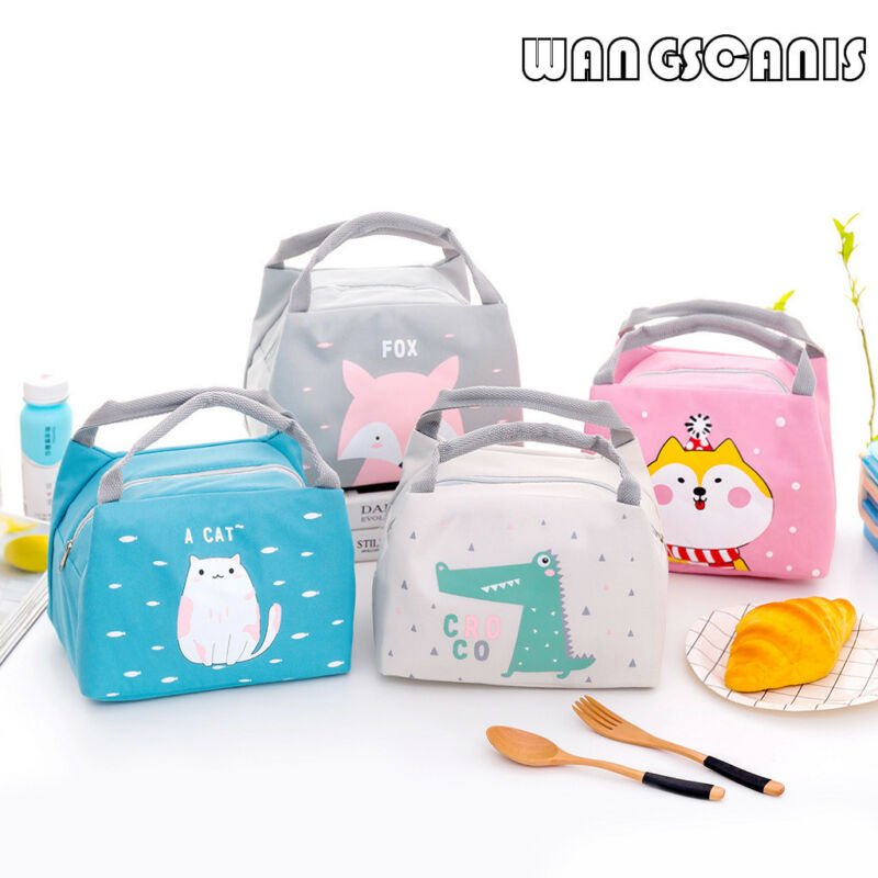 Women Cartoon Cute Lunch Bag Girl Kids Children Thermal Insulated Lunch Box Tote Food Picnic Bag Milk Bottle Pouch