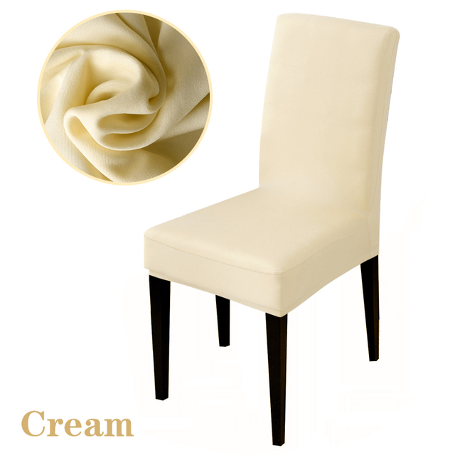 Solid color stretch chair cover sp