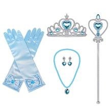 Gloves Kids Elsa-Accessories-Set Tiara Cosplay-Supplies Magic-Wand Thanksgiving Snow-Queen
