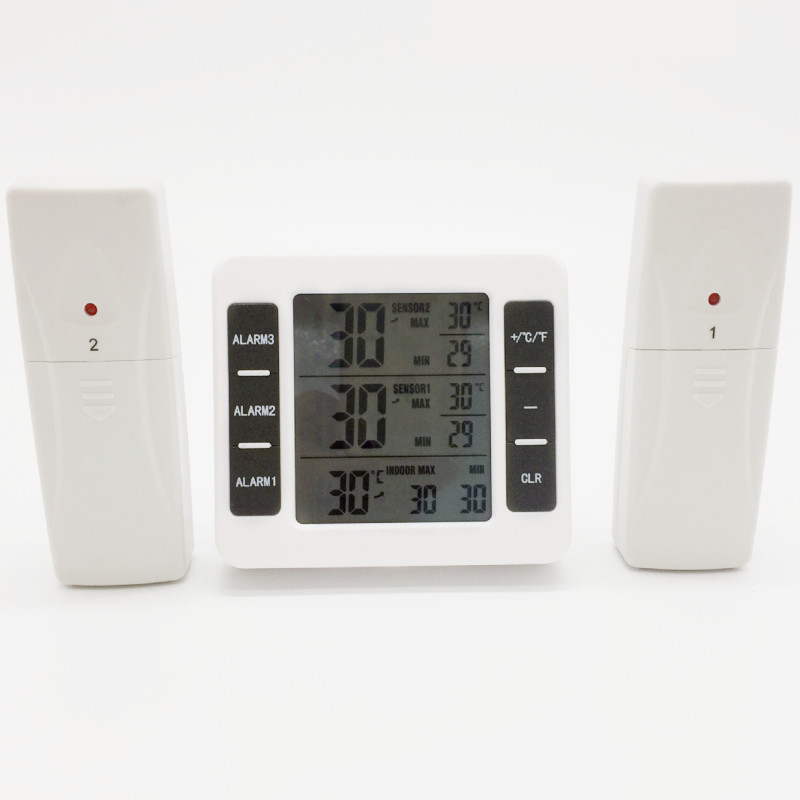 2019 New Digital Thermometer with Indoor Temperature Monitor and 2 Wireless Sensors with Clock Calendar Alarm for Home Office