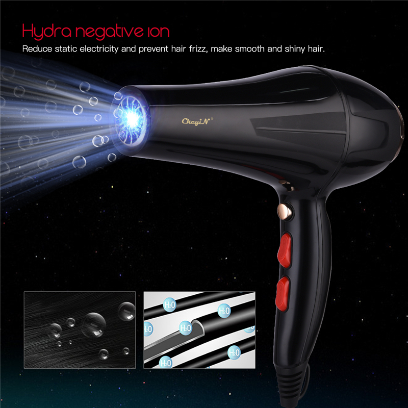 5000W AC Motor Hair Dryer Blue Light  Blow Hairdryer  Hot And Cold Wind Styling Tools For Household Hotel Use Collecting Nozzle