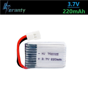 3.7V 220mAh Lipo Battery for 3.7v Rechargeable battery for X4 X11 X13 RC Drone Quadcopter Spare Parts 702025 1Pcs image