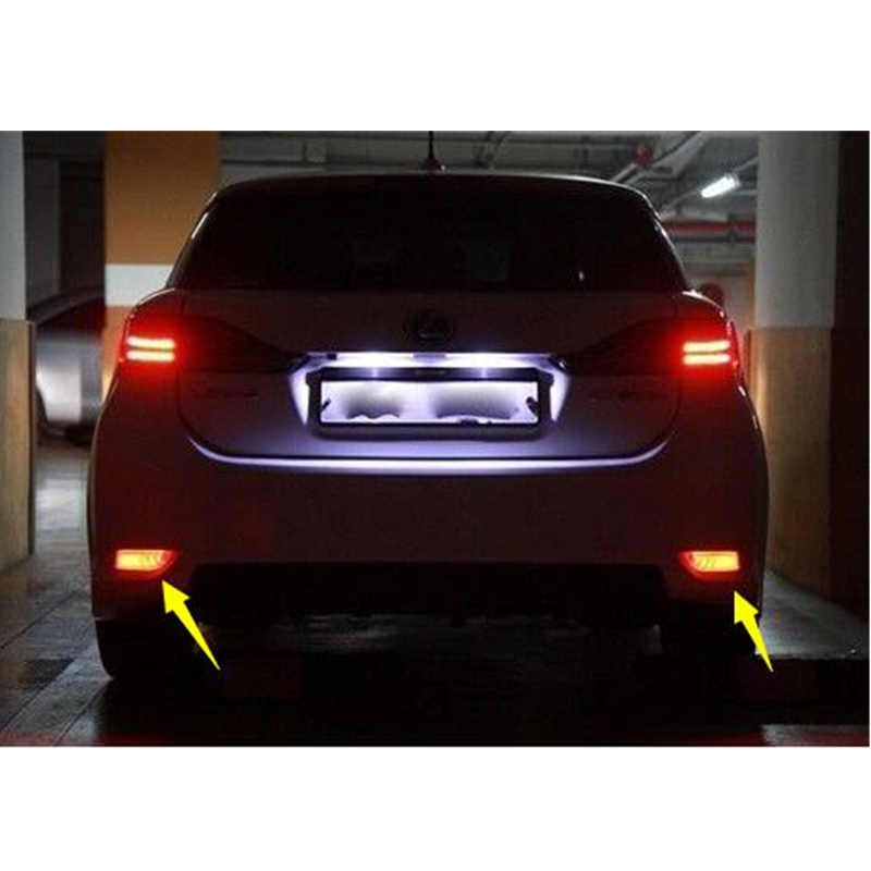 2 Stuks Voor Toyota Camry 2015 2016 Led Rear Bumper Reflector Licht Mistachterlicht Remlicht Waarschuwingslampje Reflector running Light