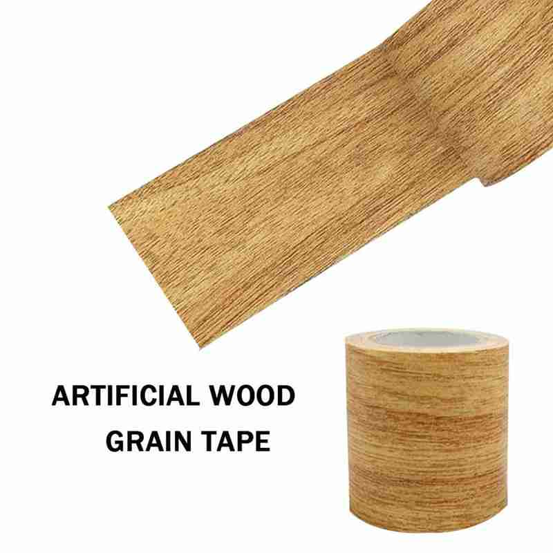 4.75cm Vintage Wood Grain Tape DIY Furniture Repair Adhesive Duct Tape Decor Oak Grain Sticker For Covering Scratches image
