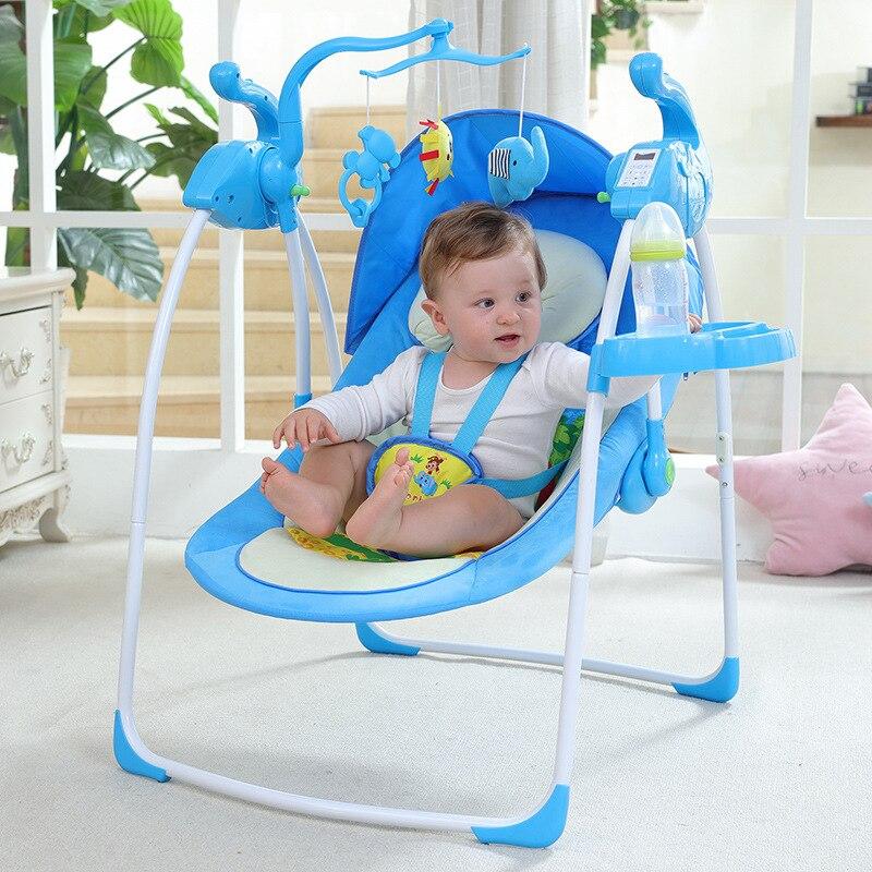 Baby Electric Rocking Chair Baby Cradle Recliner Newborn Child Comfort Chair Shaker Cradle Bed Baby Sleeping Artifact Baby Swing