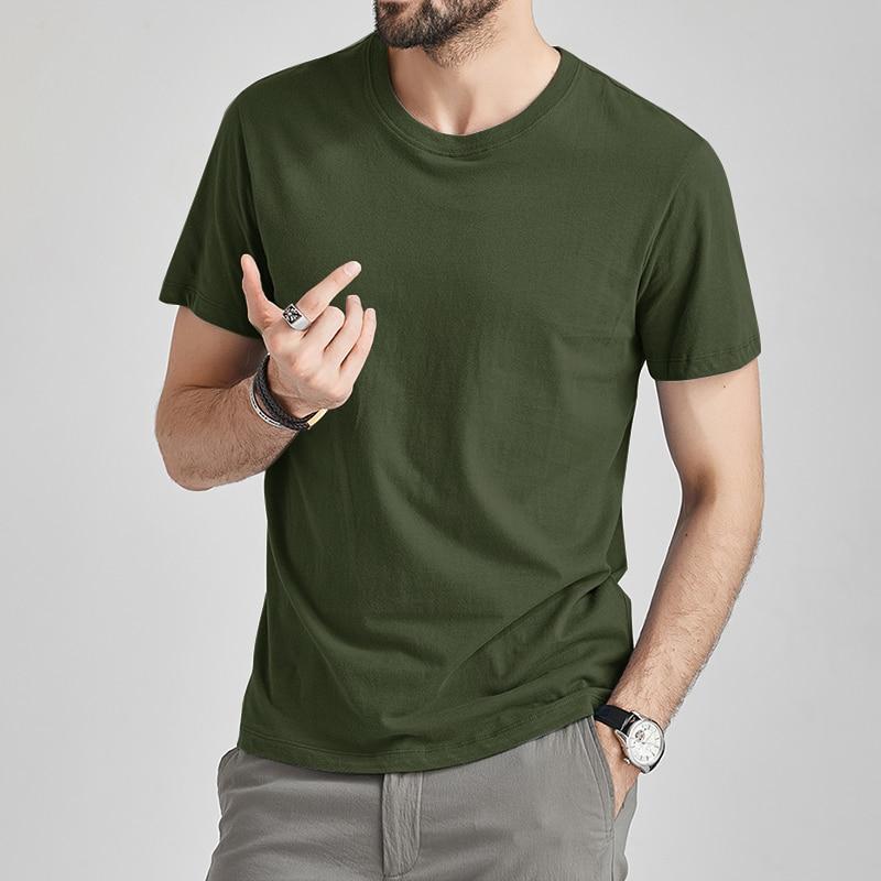 Hot Plain Cotton T-Shirt Short Sleeve Solid Blank Design Tee Men Tshirt S-5XL