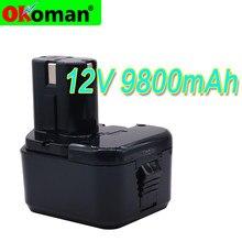 Alta Qualidade 9800mAh Bateria para Hitachi 12V 4.8Ah EB1214S 12V EB1220BL EB1212S WR12DMR CD4D DH15DV C5D , DS 12DVF3