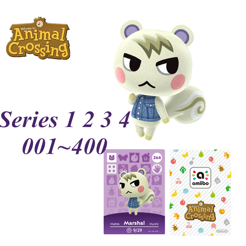 Hot Animal Crossing new horizons <font><b>Amiibo</b></font> <font><b>Card</b></font> NFC game <font><b>Card</b></font> for NS Games nintendo switch series 1 2 3 4 001 400 264 marshal image