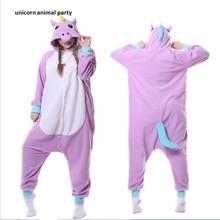 Kigurumi Adult Purple Unicorn Onesie Cosplay Costume Pajamas Sleepwear Women Men Halloween Carnival take clothing