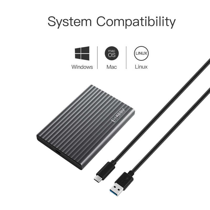 "KESU External Hard Drive 2.5"" USB3.0 320gb/500gb/1tb Aluminum Alloy External Hard Drive Compatible For Desktop/Laptop/MacBook"