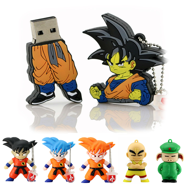 Usb Flash Drive Son Goku Kuririn Dragon Ball 128GB 64GB 16GB 256GB 8GB 32GB Cle USB 2.0 Memory Pendrive Cartoon Pen Drive Stick