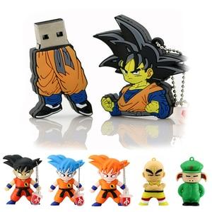 usb flash drive Son Goku Kuririn Dragon Ball 128GB 64GB 16GB 256GB 8GB 32GB Cle USB 2.0 memory pendrive Cartoon Pen Drive Stick