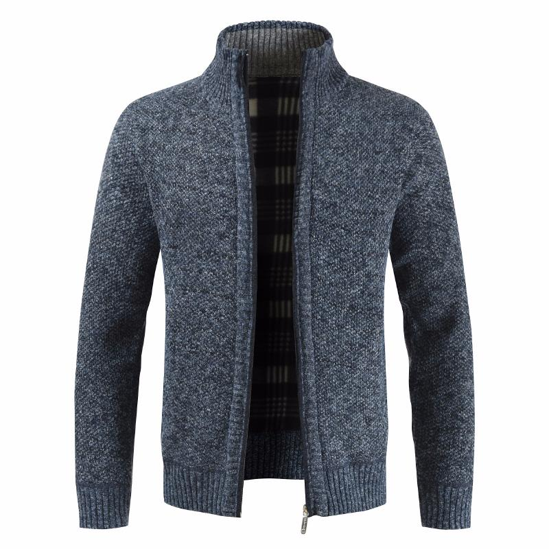 Men Autumn Thick New Fashion Business Casual Sweater Cardigan Men Brand Slim Fit Knitwear Outwear Warm Winter Sweater Jumper Men