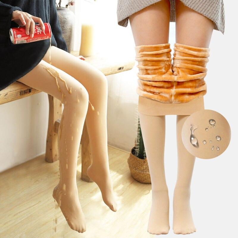 Waterproof Warm See Through Zohra Leggings Women's Winter And Ankles Plus Velvet High Waist Large Size Leginsy Sportowe Broek