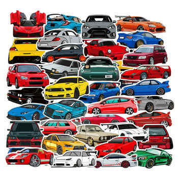 100 PCS Hellaflush Modified Performance Car Low Lying Steel Gun Sticker for Motorcycle Bicycle Helmet Motor Suitcase Laptop - discount item  14% OFF Classic Toys