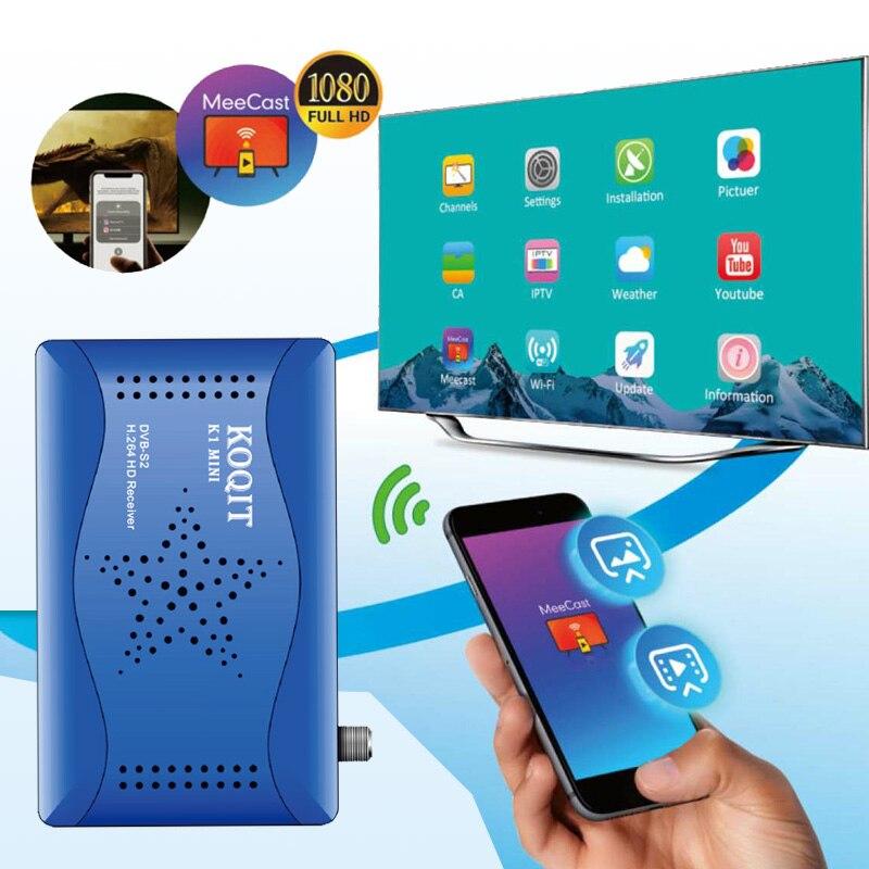 Приемник Koqit dvb s2 t2 mi, спутниковый ТВ приемник, зеркальный экран, литой телевизор, Wi-Fi, пульт дистанционного управления, DVB-S2 t2mi, спутниковый Ин...